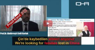 Çin Nazi Kamplarında Kaybolanlar. Tanık 312 Abdureshit, Turkey (Uygurca)